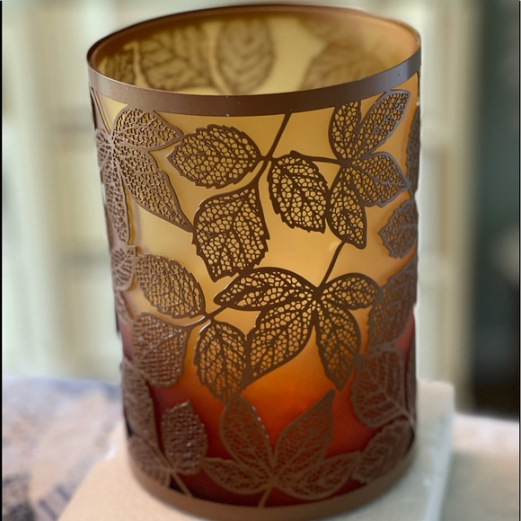 Yankee candle holder Amber Leaves